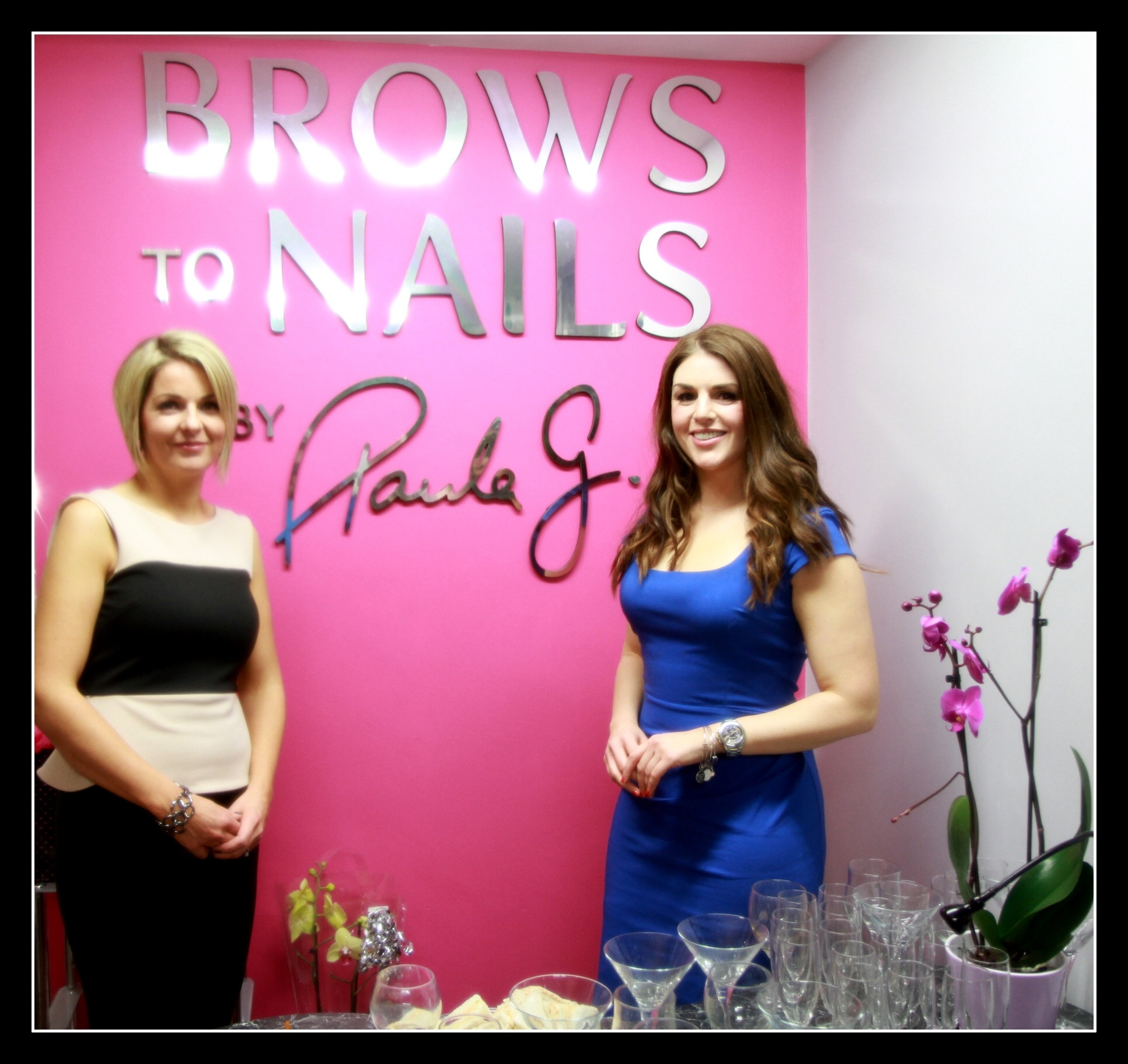 Paula Glynn with Sile Seoighe at the official opening of Brows To Nails Claremorris